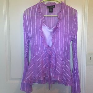 Tops - Sheer Victorian Blouse & Cami- lavender